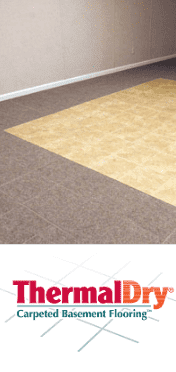 carpeted basement flooring