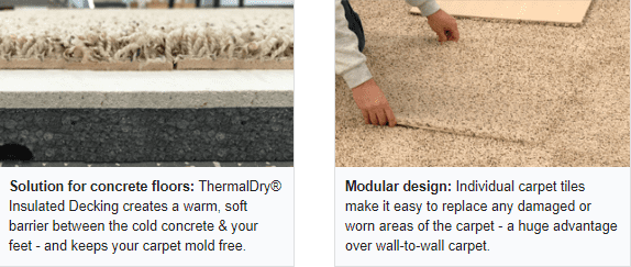 solution for concrete floors and modular design